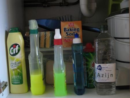Cleaning supplies.