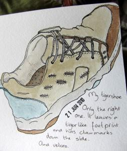 Drawing of my right shoe