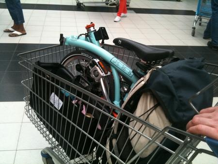 Brompton in trolley