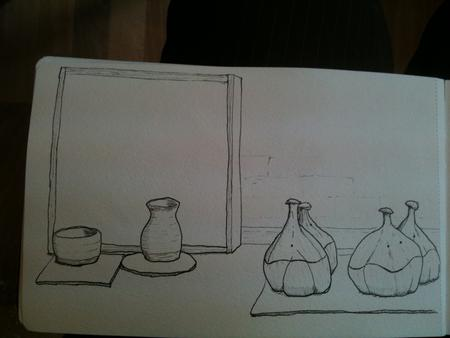 Drawing in the pottery