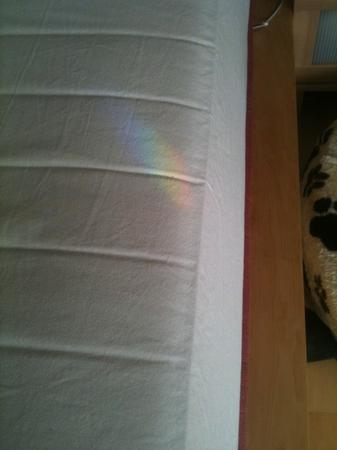 Rainbow on my bed!