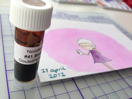 Using ink-samples to paint.