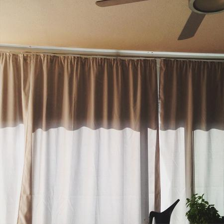 I have curtains! #day54 #diy