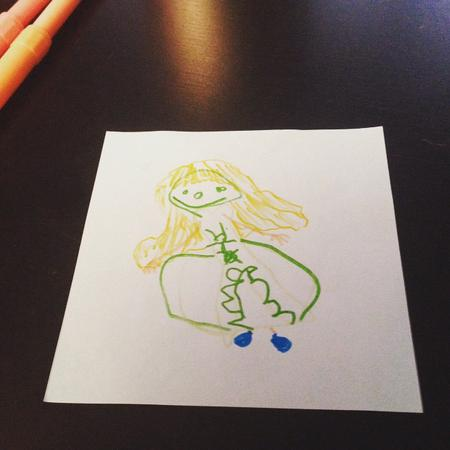 Drawing Elsa from Frozen_with_nephew_❤_#25days