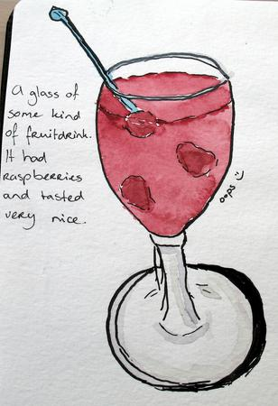 Raspberry cocktail.